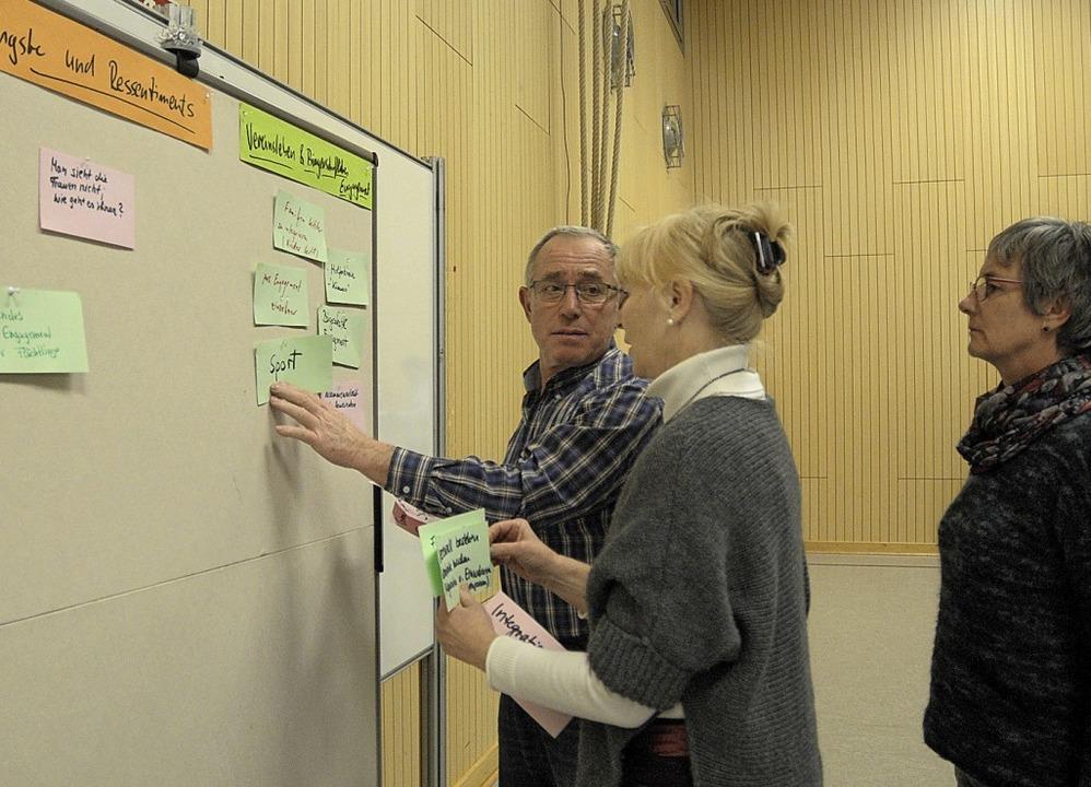 Bei der Zukunftswerkstatt gab es viel Raum für Ideen .     Foto: Ounas-Kräusel