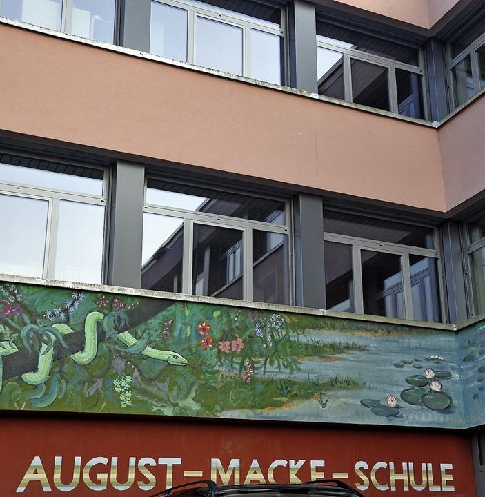 Bis 2021 wird die August-Macke-Schule umfassend saniert.     Foto: Schütz