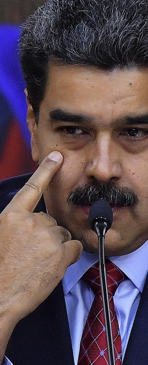 Der Druck auf Nicolas Maduro ist hoch.    Foto: afp