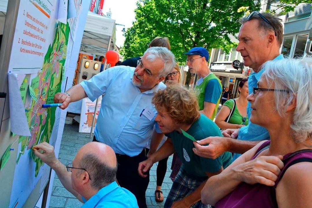 Bürger zum Mitmachen zu gewinnen ist e... wie hier beim Energieaktionstag 2018.  | Foto: Barbara Ruda
