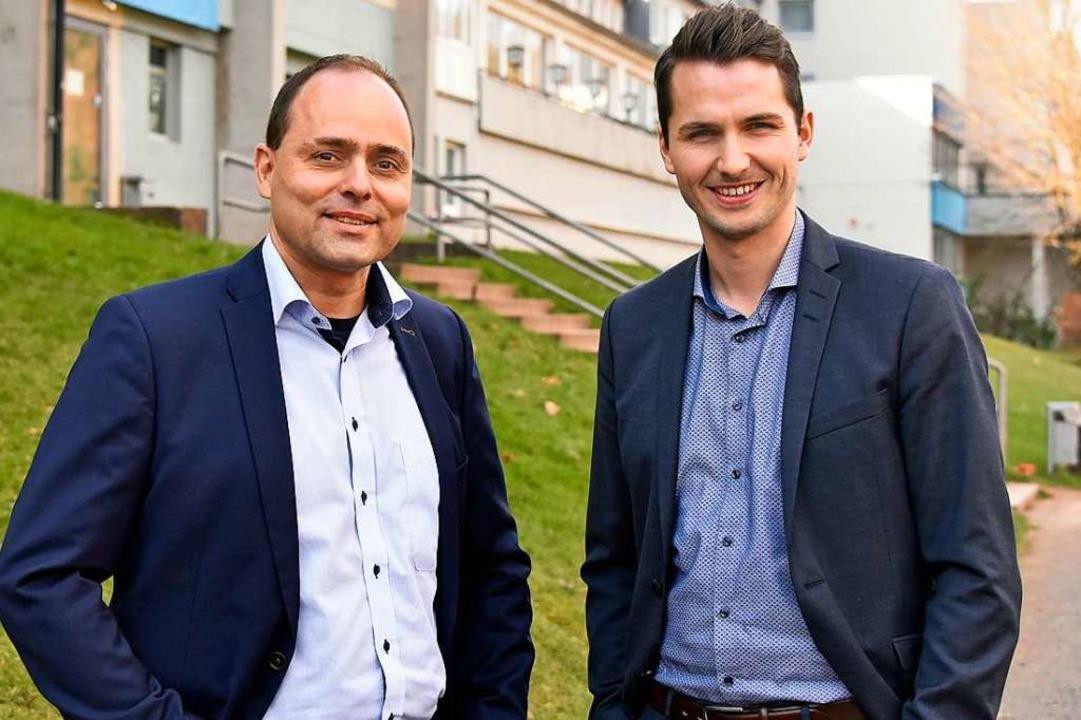 Die FT-Geschäftsführer Peter Gerspach und Thomas Fischer. (Archivbild).    Foto: Michael Bamberger