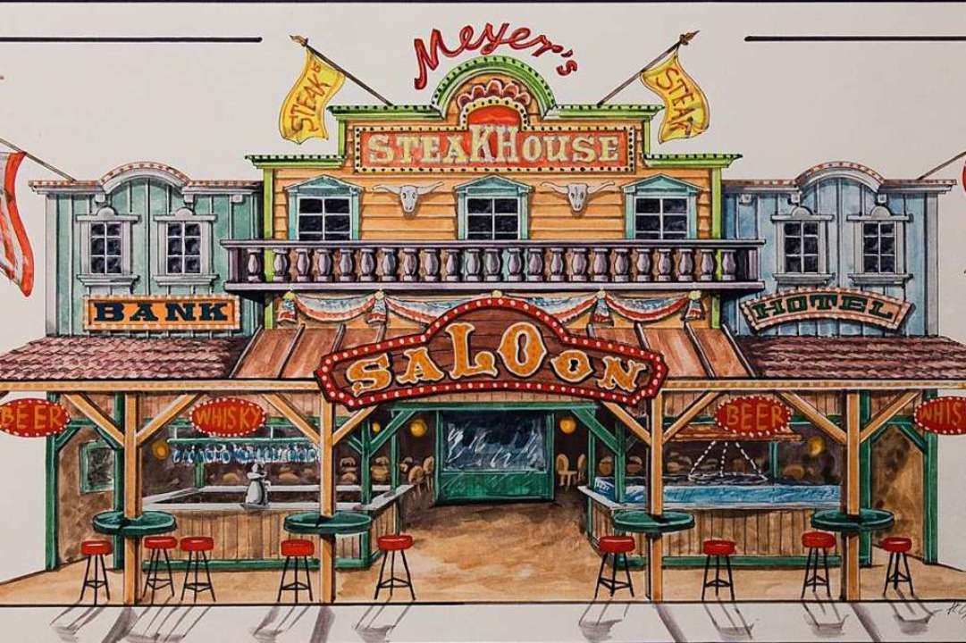 Entwurf für Meyer's Steakhouse.  | Foto: Gabriele Zahn