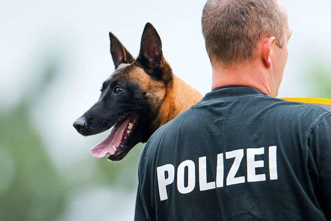 Ein Polizeihund (Symbolbild) spürte die Einbrecher auf.  | Foto: dpa
