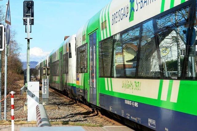 Am Freitag startet der Ausbau der Breisgau-S-Bahn zwischen Breisach und Freiburg