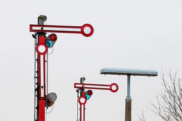 Das Stellwerk am Bahnhof Gottenheim wird zum letzten Mal per Hand betrieben