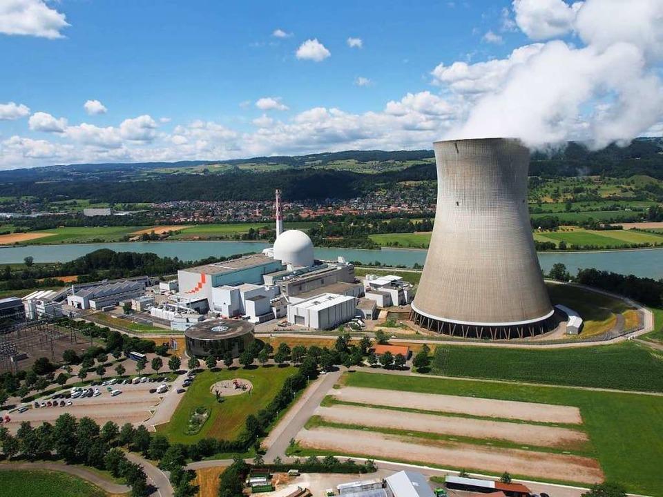 Das Kernkraftwerk Leibstadt am Hochrhein, hier mit Blick auf die deutsche Seite.  | Foto:  Kkl