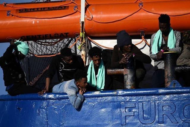 Migranten von Schiff Sea-Watch können an Land
