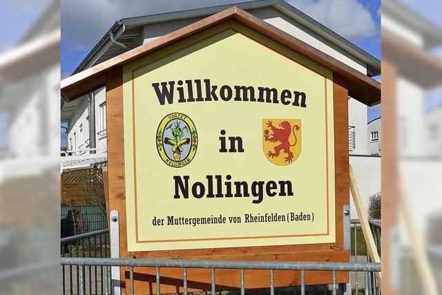 Nollingen hat ein neues Ortsschild