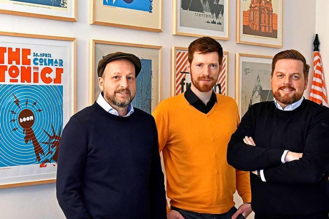 Die Agentur hinter der Website: Mike Herr, Damian Bast und Bernd Feyka    Foto: Michael Bamberger