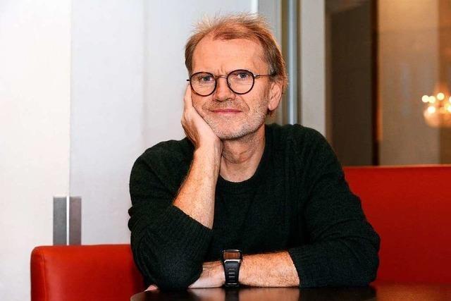 Der Schauspieler Michael Witte vor der Premiere von