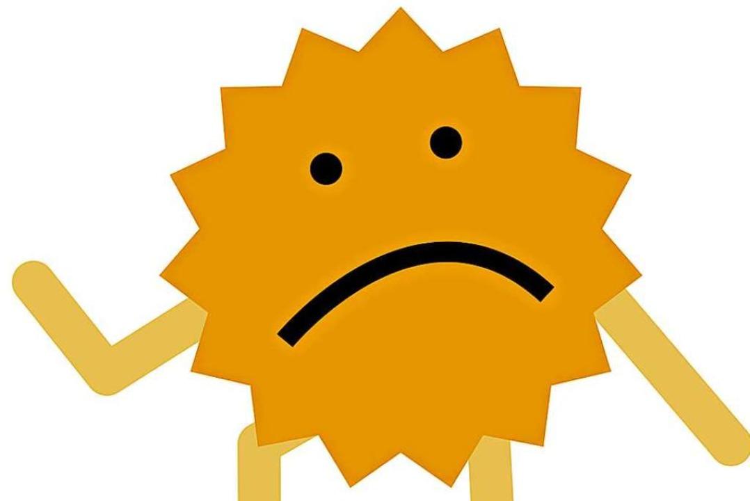 Hat nichts mehrzu lachen: das Sonnenmännle  | Foto: zellmann