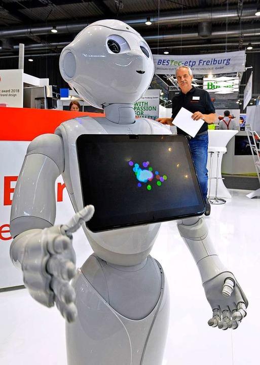 Kollege Roboter ist für manche schon Realität.  | Foto: Michael Bamberger