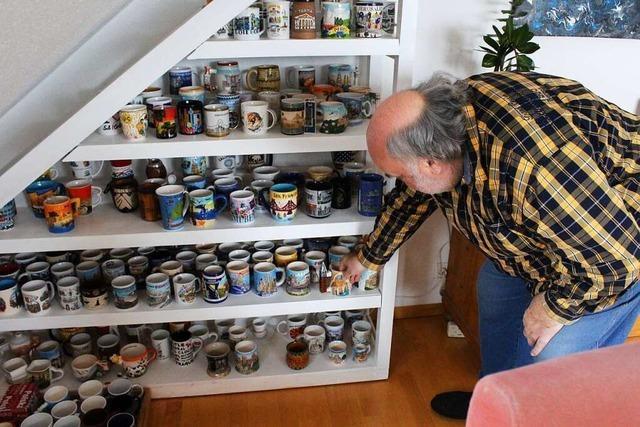 Familie Strobel aus Kenzingen hat 184 Tassen im Regal