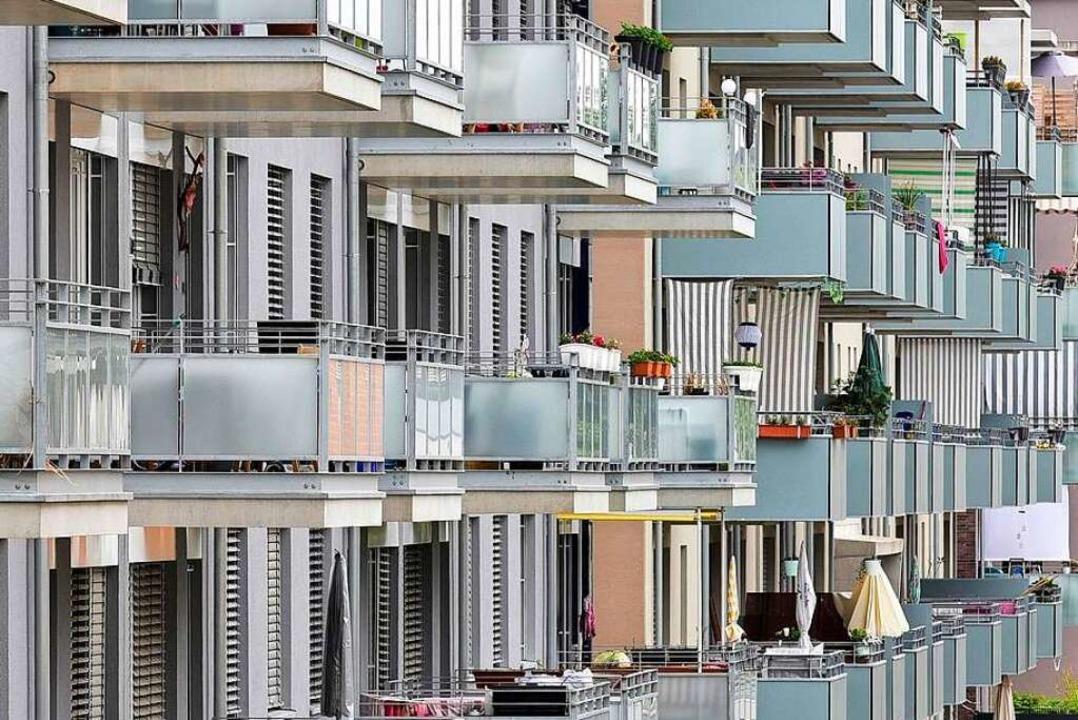 Wohnungen der Stadtbau in Freiburg-Moo...chen, die in Dietenbach leben könnten.  | Foto: Thomas Kunz