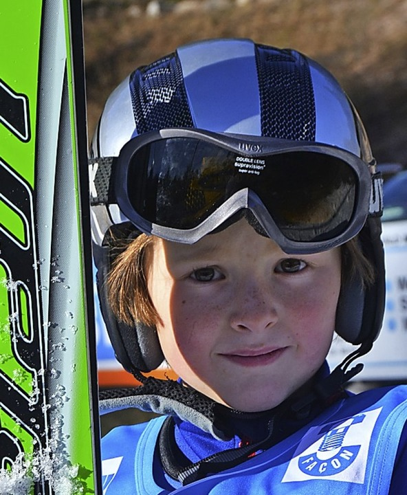 Sprunglaufsieger der Altersklasse U 10: Nils Mutterer von der Skizunft Bernau   | Foto: Helmut junkel