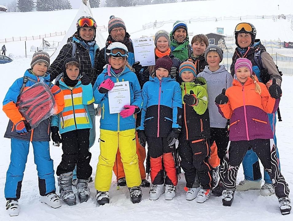 Die Teams der Rheinfelder Schulen mit ihren Betreuern.    Foto: Barbara Plötz-Höchst