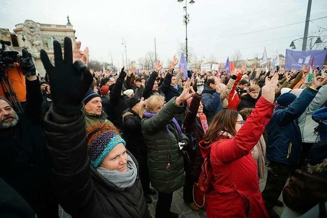 Auf die Straße gegen Viktor Orban
