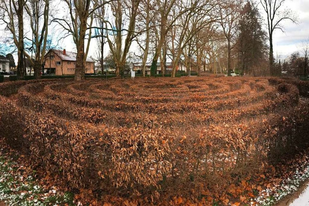 Beim jetzigen Labyrinth soll ein Abenteuerspielplatz integriert werden.  | Foto: Hans-Peter Müller