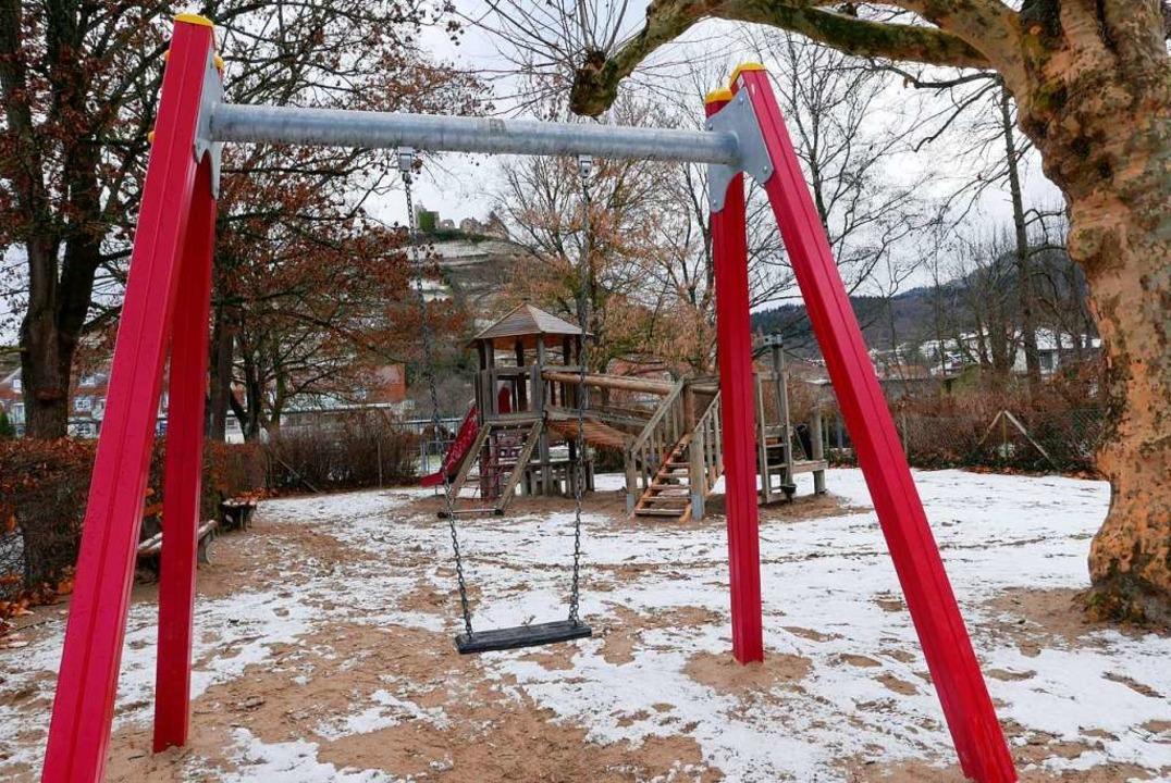 Am Nordufer des Stadtsees (beim Angler...llen Spielplatz für bis zu 12-Jährige.  | Foto: Hans-Peter Müller