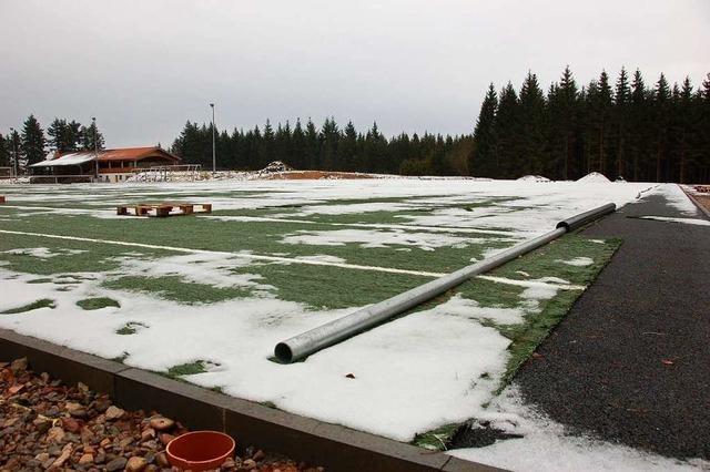 Kunstrasenspielfeld im Waldstadion ist schon teilweise zerschlissen
