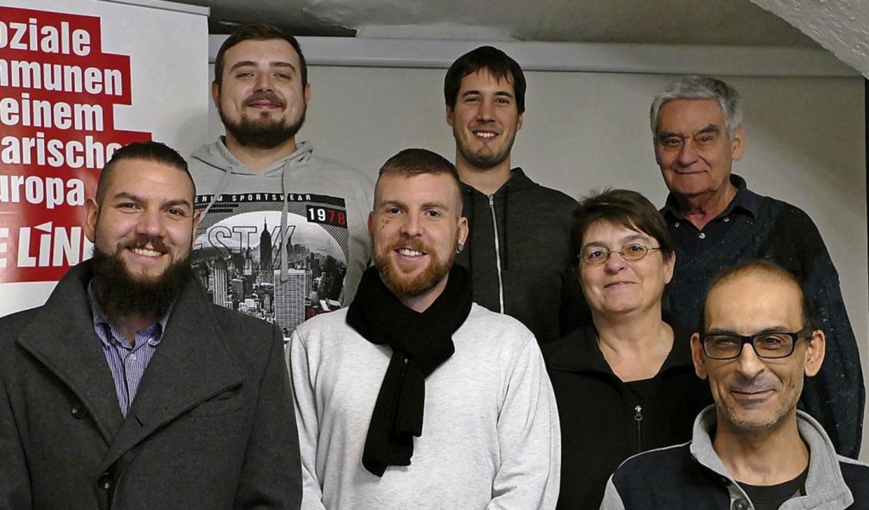 Die Kandidaten der Linken für Gemeinde...pcke, Peter Müller und Angelo de Rosa   | Foto: Axel Kremp
