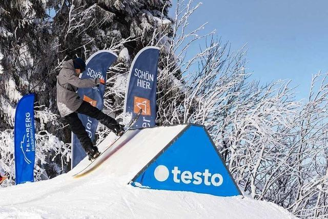 Der Snowpark am Feldberg ist seit Donnerstag wieder geöffnet