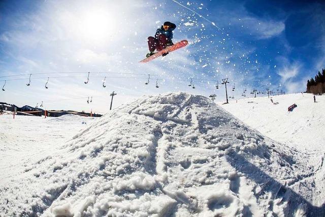 Der Snowpark am Feldberg ist wieder geöffnet