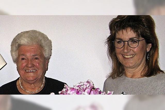 Seit 70 Jahren singt Annemarie Spitz im Kirchenchor