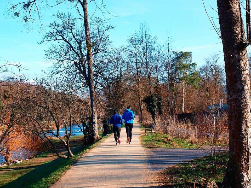 Jogger sind nur eine von vielen Nutzergruppen des Parks.  | Foto: Yannick Bucher