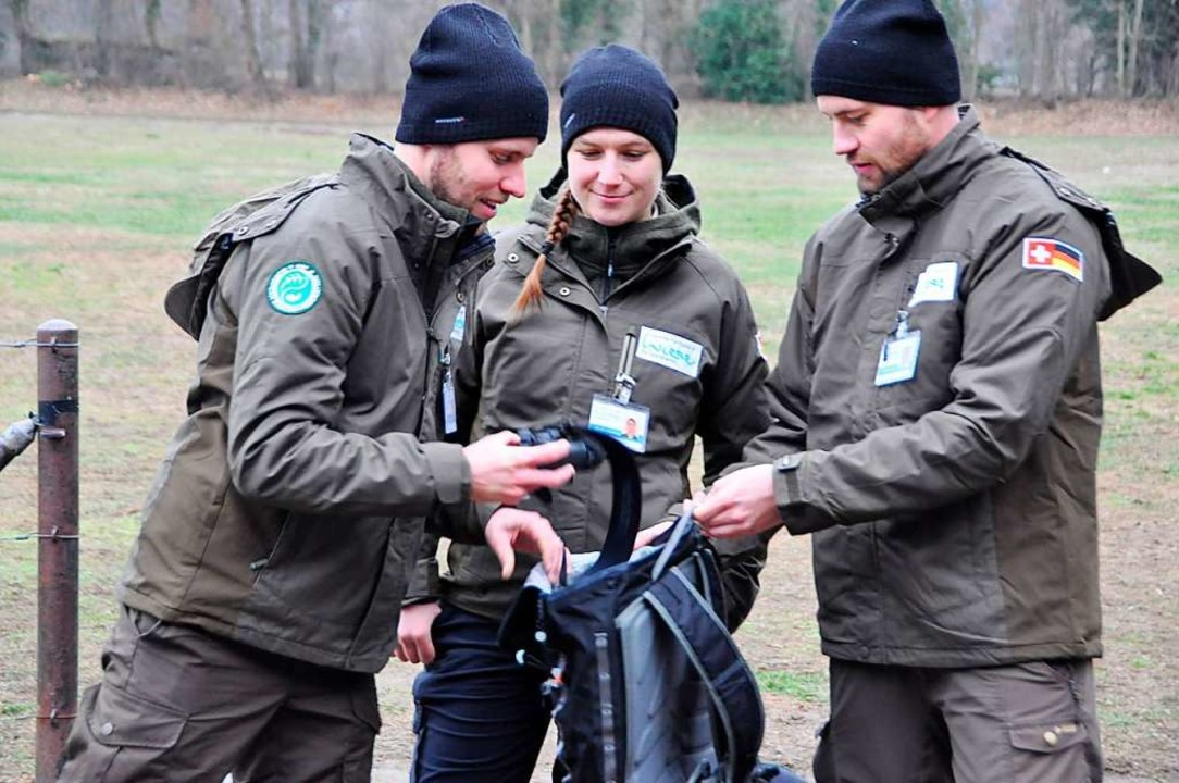 Die Ranger Yannick Bucher (links), Mar...einen Rucksack voller Erfahrungen mit.  | Foto: Daniel Gramespacher
