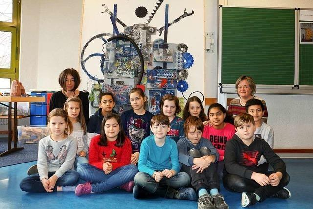 Mit dieser Maschine haben Herbolzheimer Schüler einen Preis gewonnen