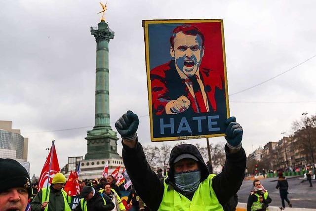 Die Hilflosigkeit von Präsident Macron ist greifbar