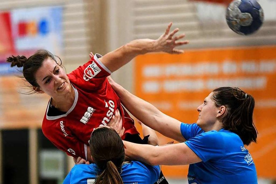 Die Freiburger Linkshänderin Christiane Baum war mit acht Treffern erfolgreichste HSG-Spielerin. (Foto: Patrick Seeger)
