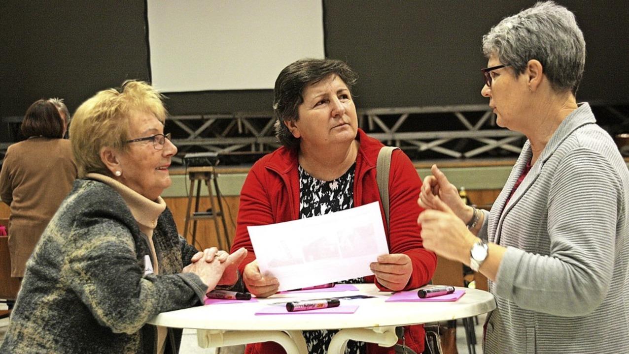 Angeregte Gespräche und viele Ideen ka...ürgerbeteiligung in Weisweil zustande.  | Foto: Ch. Franz