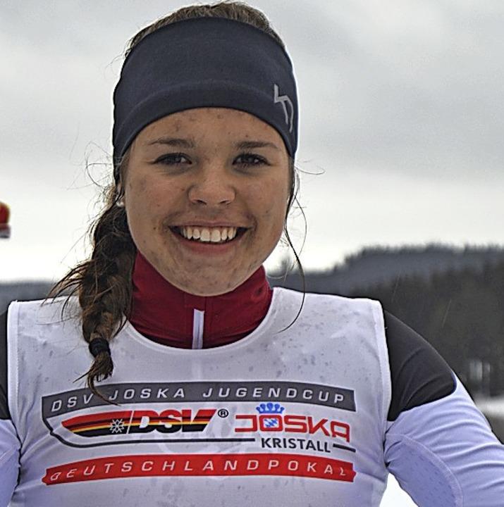 Amelie Wehrle vom SC Hinterzarten spri...ner Erkältung, 15. im DM-Einzelrennen.