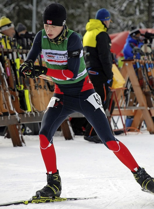 Stehend den Sieg verballert: Gutmann beim Sprint am Samstag  | Foto: Ruoff