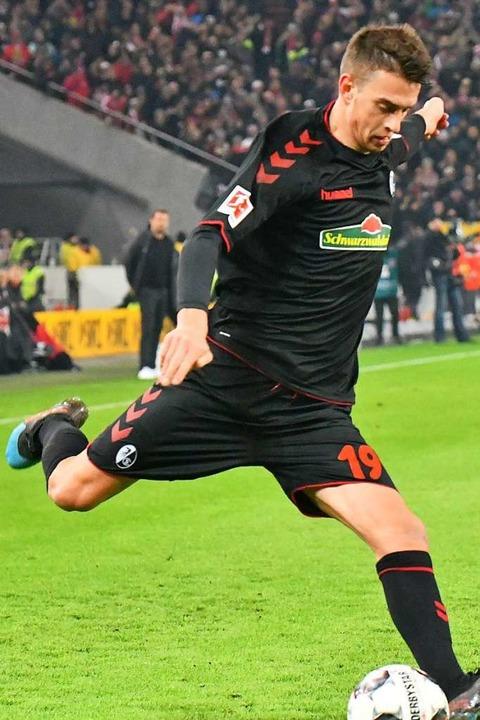 Janik Haberer erzielte mit einem strammen Rechtsschuss das frühe 1:0.  | Foto: Achim Keller