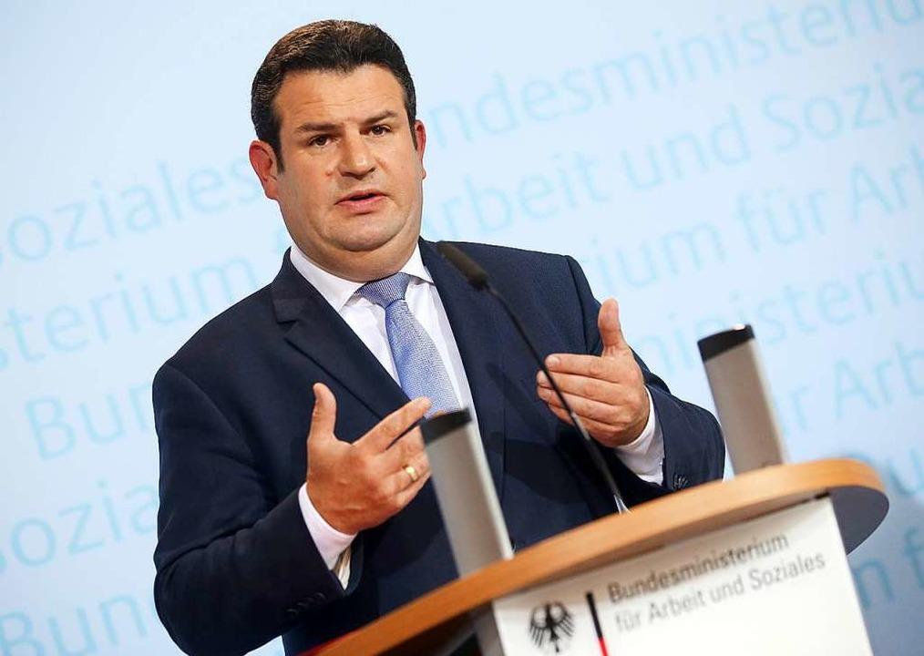 Hubertus Heil legt seine Rentenpläne vor.  | Foto: dpa