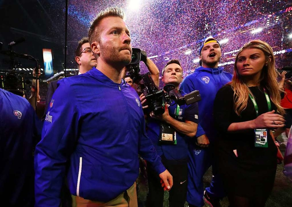 Sean McVay, Trainer der Los Angeles Rams, nach der Super-Bowl-Niederlage  | Foto: AFP