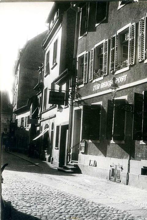 In den 1930er Jahren entstand die hist...und dem Blumenschmuck an den Fenstern.  | Foto: Stadtarchiv M70S_20127 Nr.37