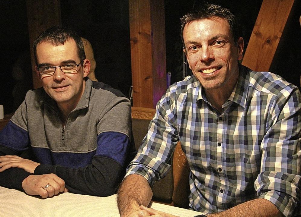 "Pressewart Holger Wachsmann (links) un...eine ""Frischzellenkur"" an.  | Foto: Sabine Model"