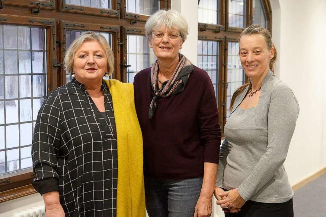 Irene Vogel,  Cornelia Hösl-Kulike und Larissa Seiffert  | Foto: Ingo Schneider