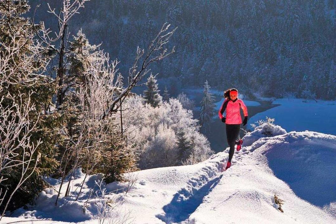 Sonja von Opel trainiert auch im Winter in der Natur.  | Foto: Michael Reusse