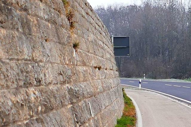 Mercedes weicht aus und fährt gegen eine Mauer