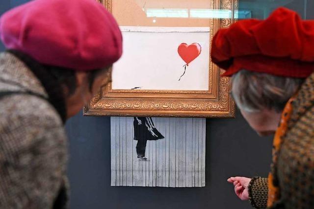 Zerschreddertes Banksy-Werk ist Publikumsmagnet in Baden-Baden