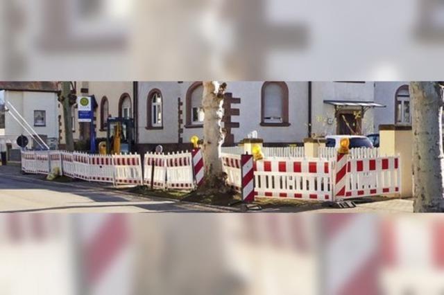Straße der Baustellen
