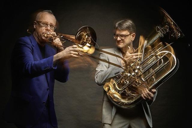 Duo Low Planet mit Gastmusiker in der Kulturscheune Rabe in Kleinkems