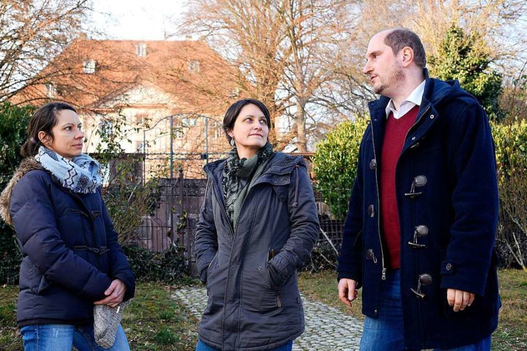 Aleksandra Fröhlich (links), Aurélie R...der neue Stadtteil gebaut werden soll.  | Foto: Thomas Kunz