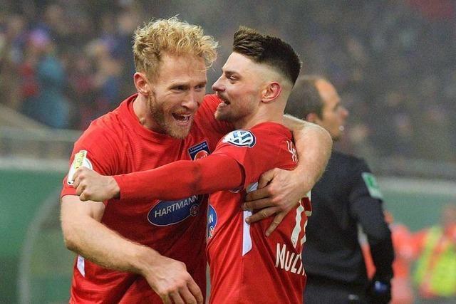 Heidenheim schlägt Leverkusen im Achtelfinale mit 2:1