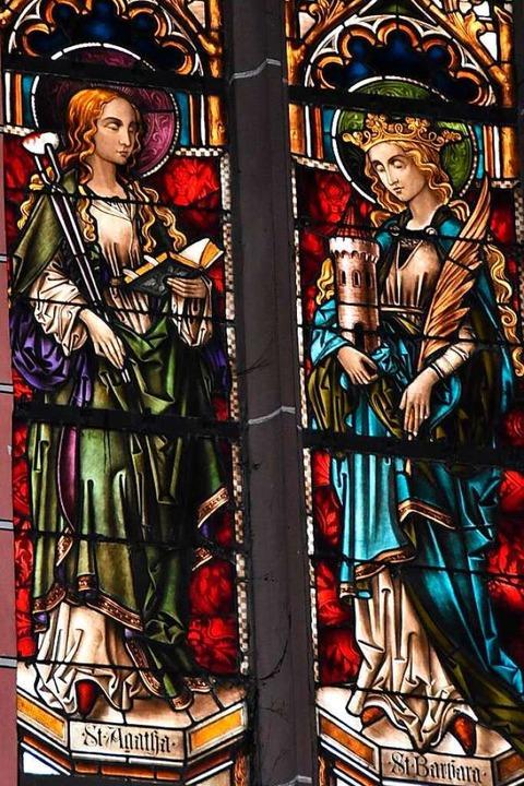 In der Kirche St. Blasius in Glotterta...sehen, gegenüber der heiligen Barbara.  | Foto: Manfred Frietsch